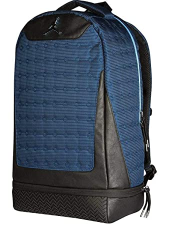 2b9277d9275f23 Nike Air Jordan Retro 13 Backpack Laptop Storage Shoe Pocket Bag (Navy Blue)