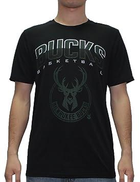 NBA Milwaukee Bucks para hombre Athletic camiseta de manga corta T, hombre, negro: Amazon.es: Deportes y aire libre