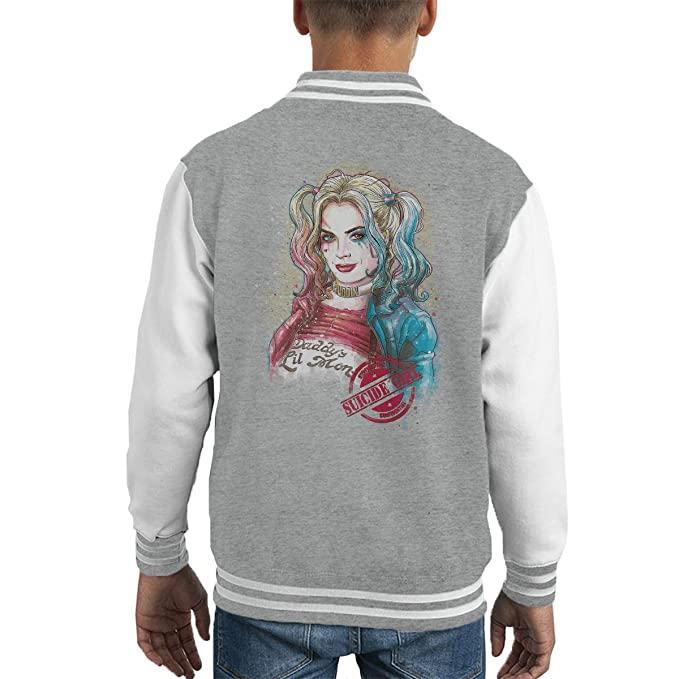 Harley Quinn Suicide Girl Kids Varsity Jacket