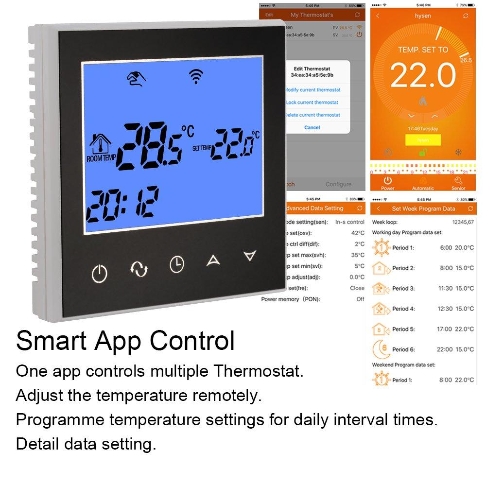 ... inteligente con pantalla LCD de pantalla táctil grande para agua / sistema de calefacción de suelo eléctrico BI790: Amazon.es: Bricolaje y herramientas