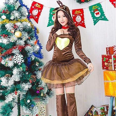 Shisky Disfraz de Navidad Adulto,Chica de Rojo Navidad Traje ...