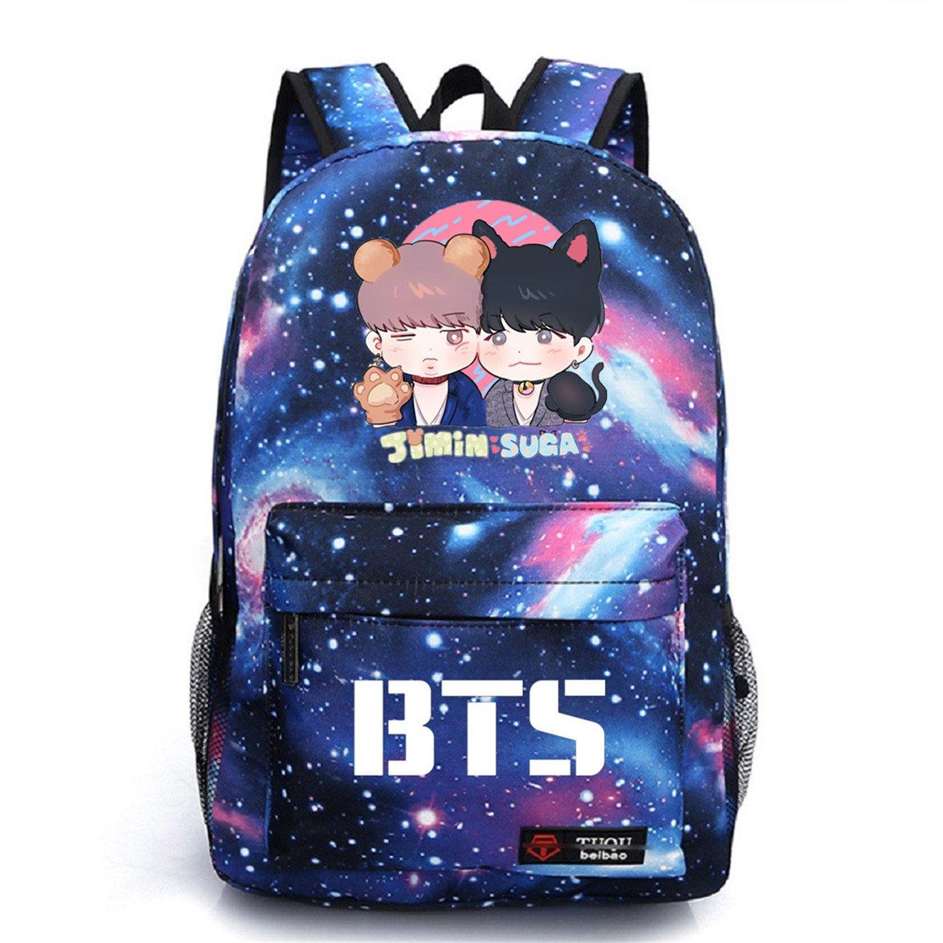 JUSTGOGO Korean Casual Backpack Daypack Laptop Bag Student Bag Book Bag School Bag (1)