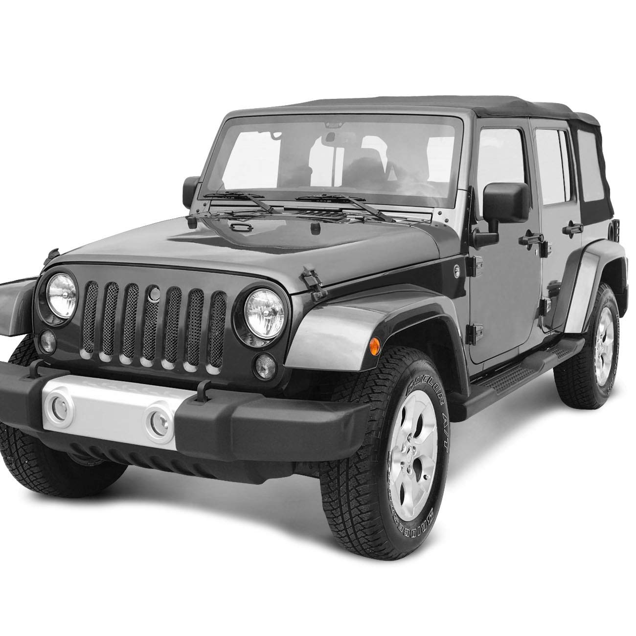 ICARS 3D Front Mesh Grill Inserts Grille Bug Net with Key Hood Lock for 2007-2018 Jeep Wrangler JK JKU Accessories /& Unlimited Rubicon Sahara