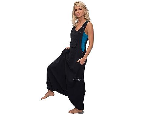 433e89e877f Amazon.com  manakamana Women s Aladdin Harem Jumpsuit Overalls ...