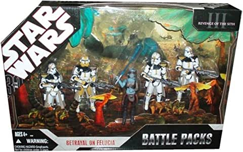 Amazon Com Star Wars 2007 Exclusive 30th Anniversary Betrayal On Felucia 5 Figure Battlepack Toys Games