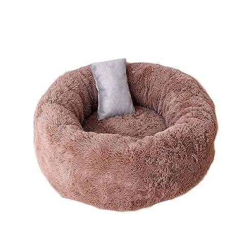 ALLNEO cómoda y cálida Cuddler, Cama Redonda para Mascotas, cojín Universal para Cuatro Estaciones, Sheri Luxury Shag Fuax Fur Donut Cuddler