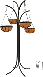 Arcadia Garden Products 1596 Coconut Basket Hanging Garden Tree, Black
