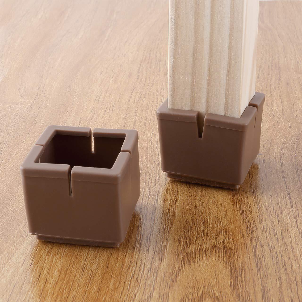 Mogokoyo Lot de 24 embouts de chaise en silicone pour pieds de chaise Pour table de 30 /à 35 mm noir