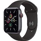Apple Nuevo Watch SE (GPS + Cellular)• Caja de Aluminio Gris Espacial de 44mm• Correa Deportiva Negra - Estándar