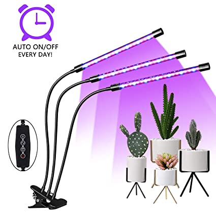 Amazon.com: EMMMSUN Grow Light, 30W LED Grow Light with 3/6 ...