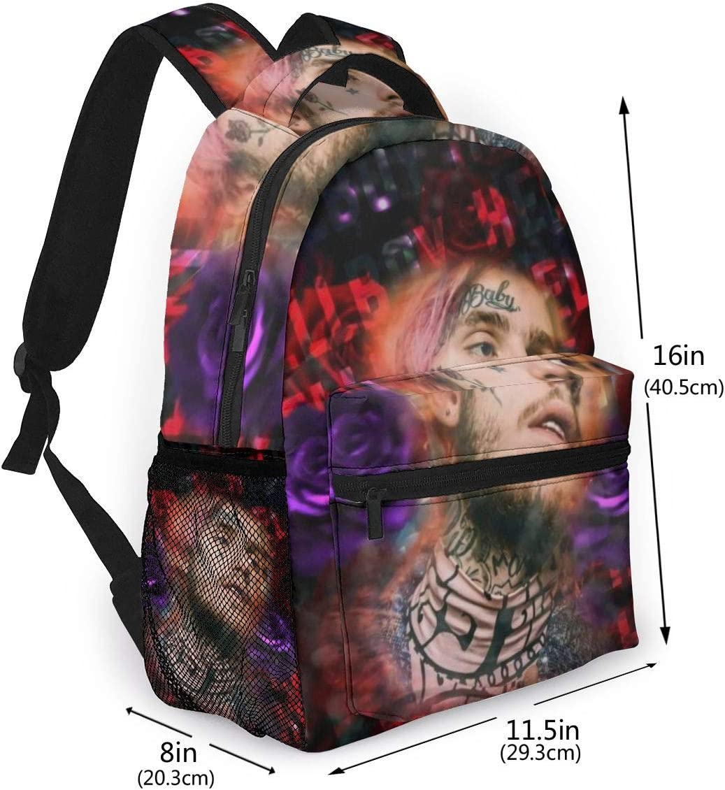 16x11.5x8 Inch Homewifi Lil Peep Casual Backpack Laptop Adjustable Shoulder Travel College