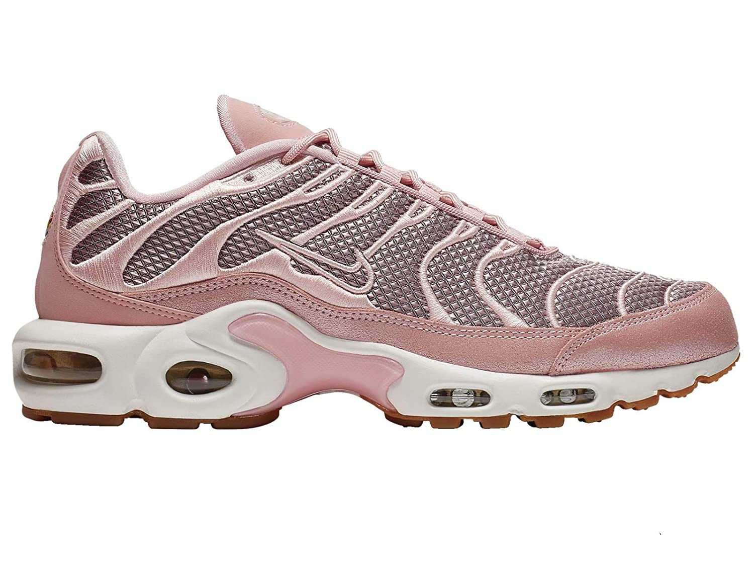 separation shoes 8afaf 0fb41 Amazon.com   Nike Air Max Plus - Women s Sheen Metallic Gold Summit White  Nylon Running Shoes   Shoes