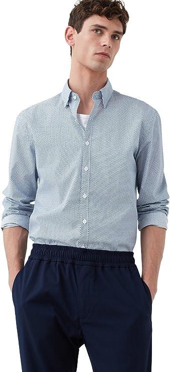 MANGO MAN - Camisa casual - para hombre azul azul marino X-Large: Amazon.es: Ropa y accesorios
