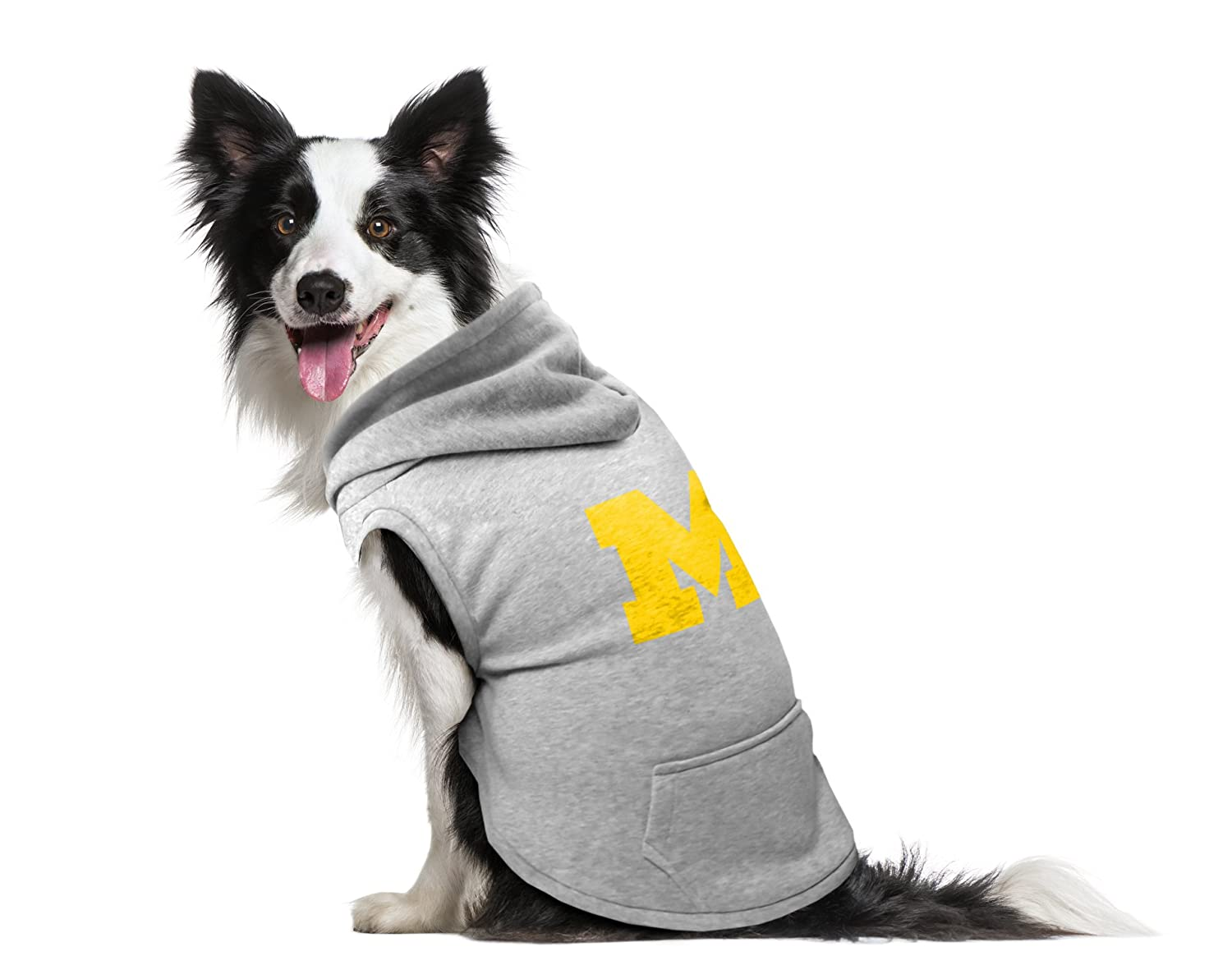 Amazon.com   NCAA Michigan Wolverines Pet Hooded Crewneck 21fa6816d