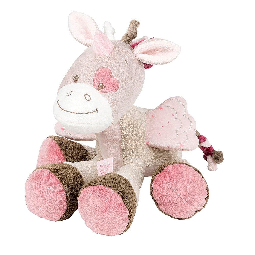 Nattou Kuscheltier für Babys, Mädchen, 28 cm, rosa - Adèle der Elefant