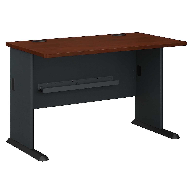 Bush Business Furniture Series A 48W Desk in Hansen Cherry and Galaxy