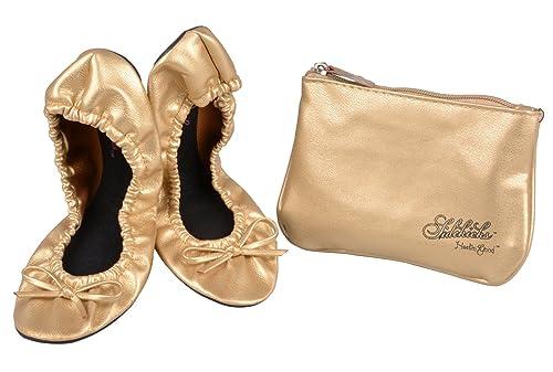 a170ba588 Amazon.com | Sidekicks Women's Foldable Ballet Flats w/ Carrying ...
