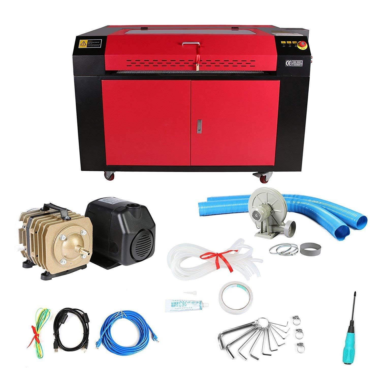 Anhon 100 Watt CO2 Laser Lasergravierer Gravur Schneidemaschine mit Farbe Bildschirm 900X600mm (KH9060)