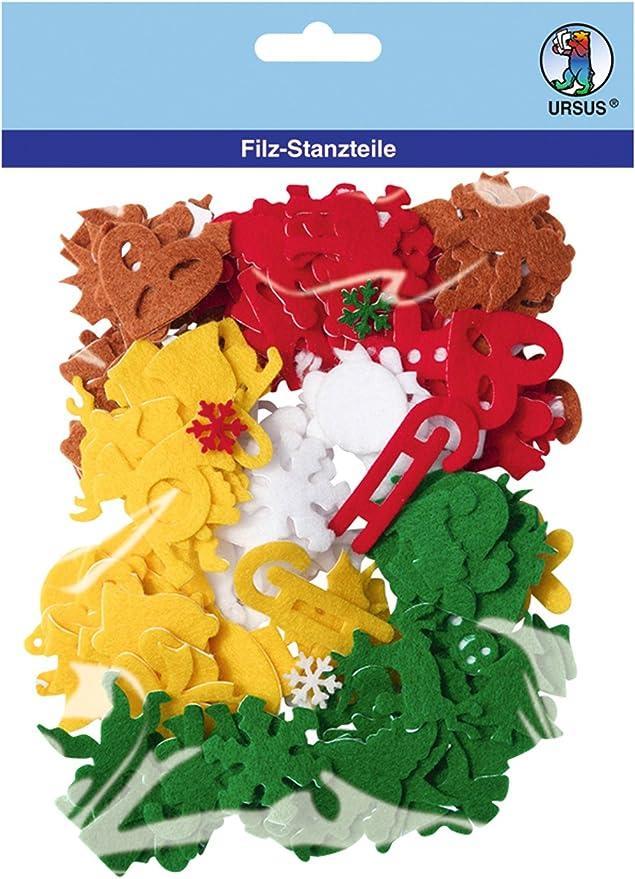 URSUS Buchstaben Filz 150 Stück//5 Farben selbstklebend
