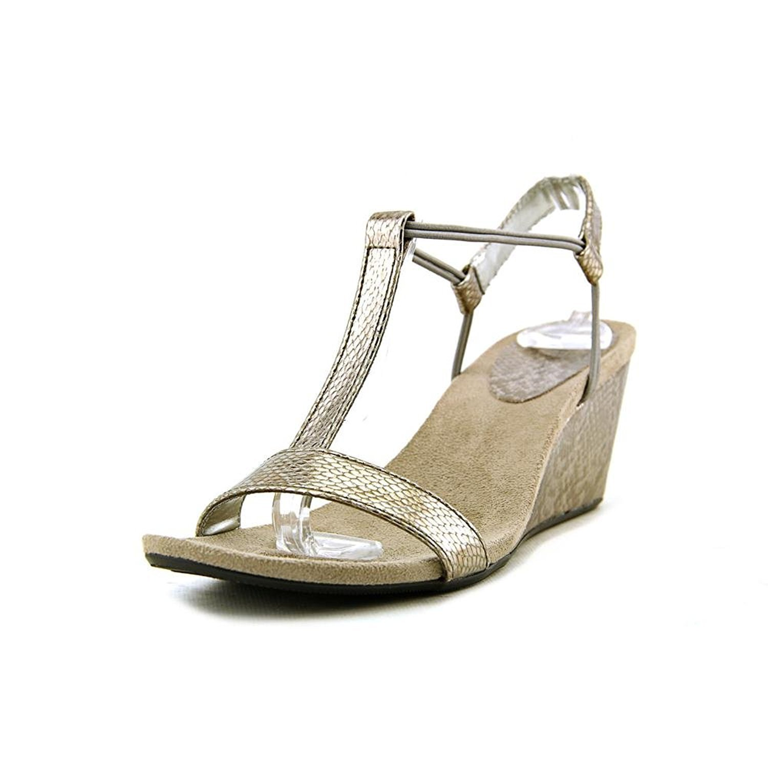 Style & Co. Womens Mulan Open Toe Casual Platform Sandals, New Pewter, Size 7.5