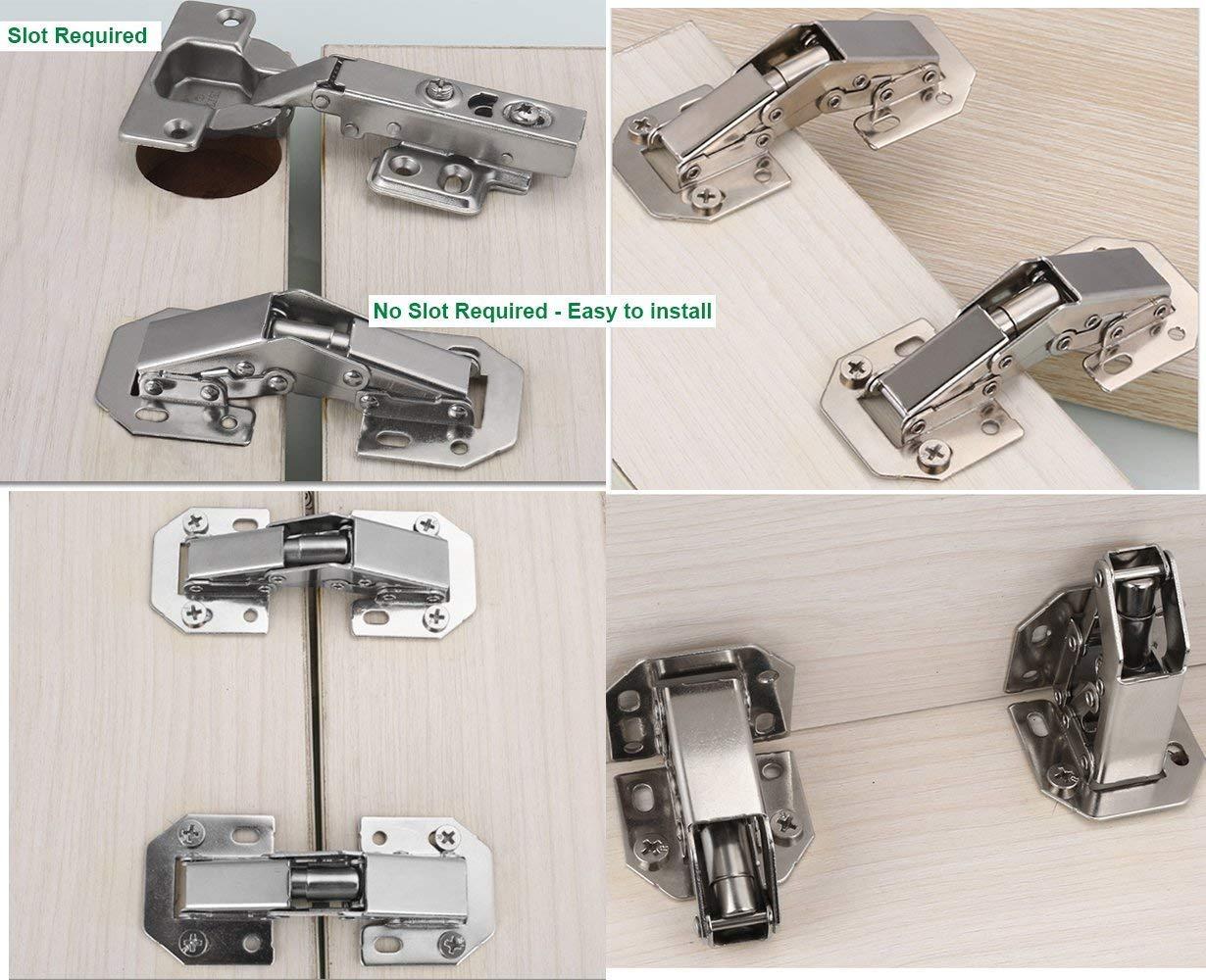 BESYZY 2 PCS Meuble Armoire Meuble Porte Ascenseur Support Charni/ère Charni/ère Porte Placard Meubles Placard Couvercle Flap Restez Tampon Amortisseur R/églable