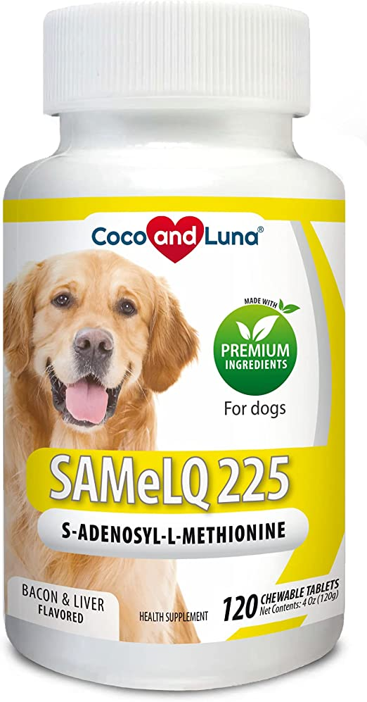 Same for Dogs - S-Adenosyl-l-Methionine, Same LQ 225, Promotes Cognitive Brain Support and Natural Hepatic Liver Health - 120 Chew-able Tablets