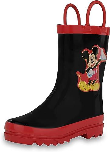 Disney Mickey Mouse Black Rain Boots