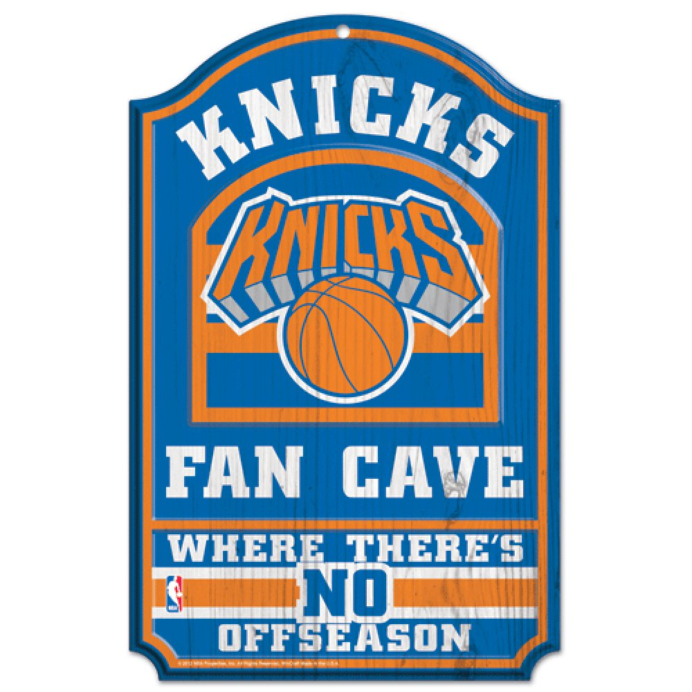 WinCraft NBA New York Knicks 38374012 Wood Sign, 11'' x 17'', Black