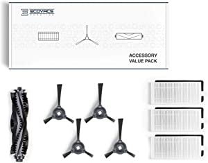 ECOVACS Deebot Accessory Pack (Replacement Brushes and Filter) for Models 710/711, New, White
