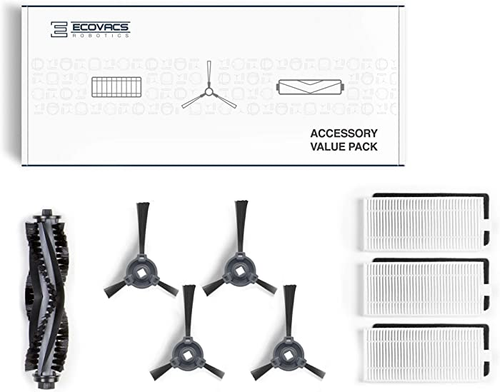 Ecovacs Deebot Accessory Pack (Replacement Brushes and Filter) for Models 500/N79/N79S/N79W, New, White