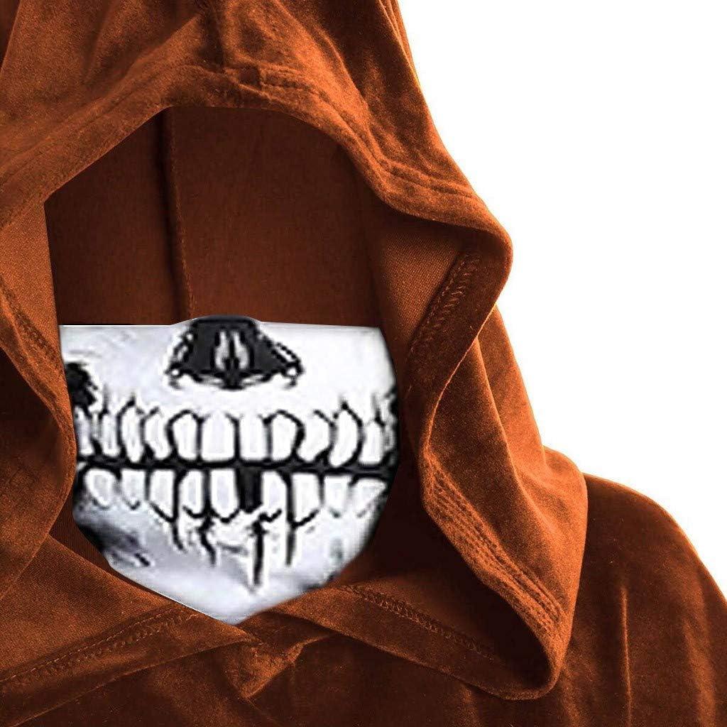 Umhang Kleider Halloween Weihnachten Karneval Kost/üm Cosplay Hoodie Minikleid Kapuzen Poncho Partykleider Piebo Damen Gothic Kleid Retro Punk Sch/ädeldruck Maske Mittelalter Pagan Vampir Hexenkleid