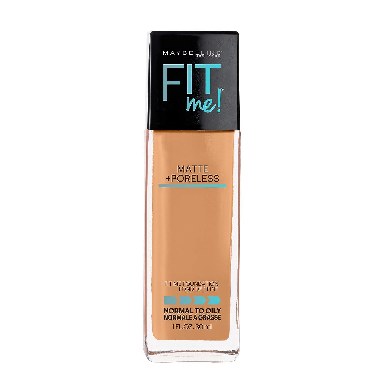 Maybelline Fit Me Matte + Poreless Liquid Foundation Makeup, Classic Tan, 1 fl. oz. Oil-Free Foundation