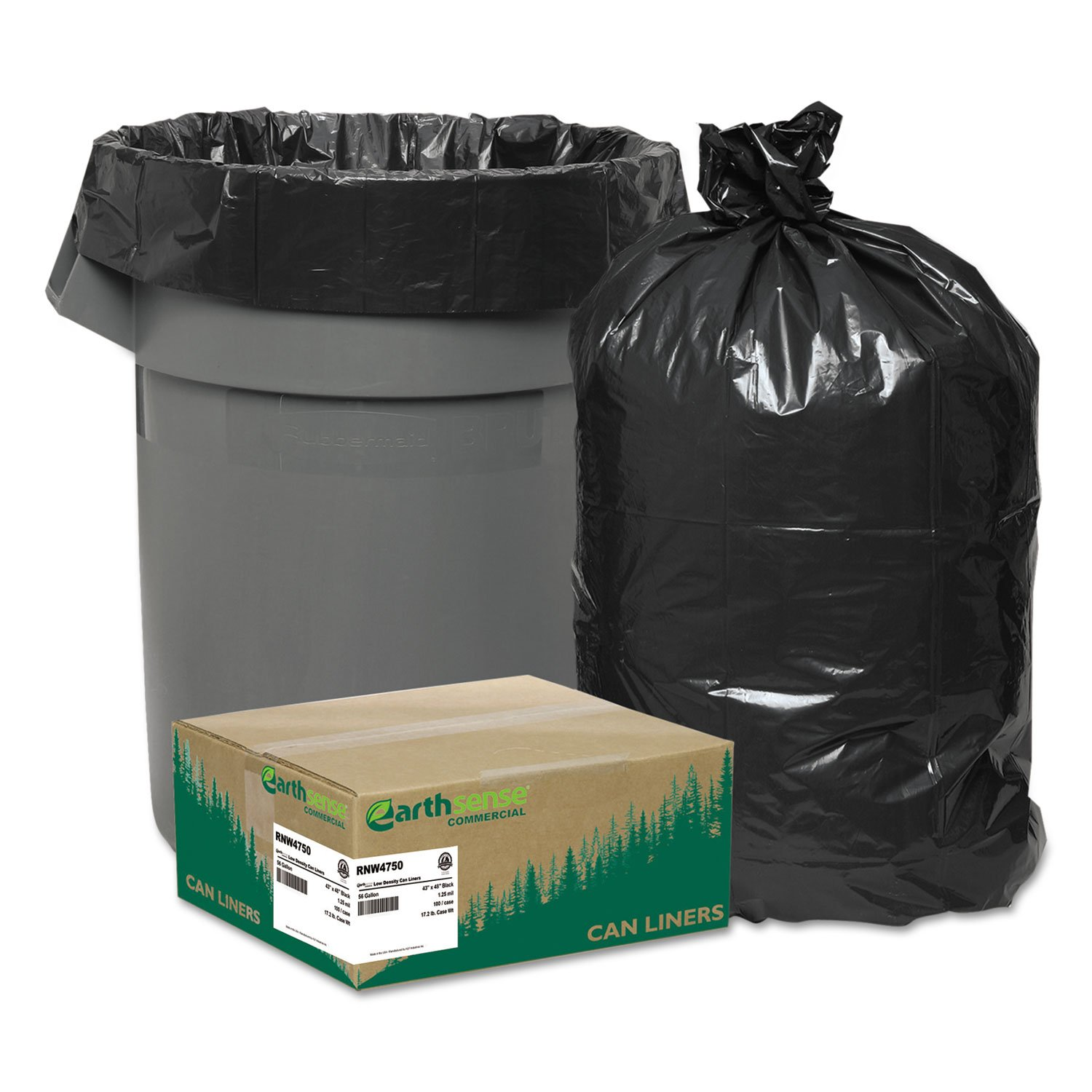 WBIRNW4750 - Webster Reclaim Heavy-Duty Recyled Can Liners
