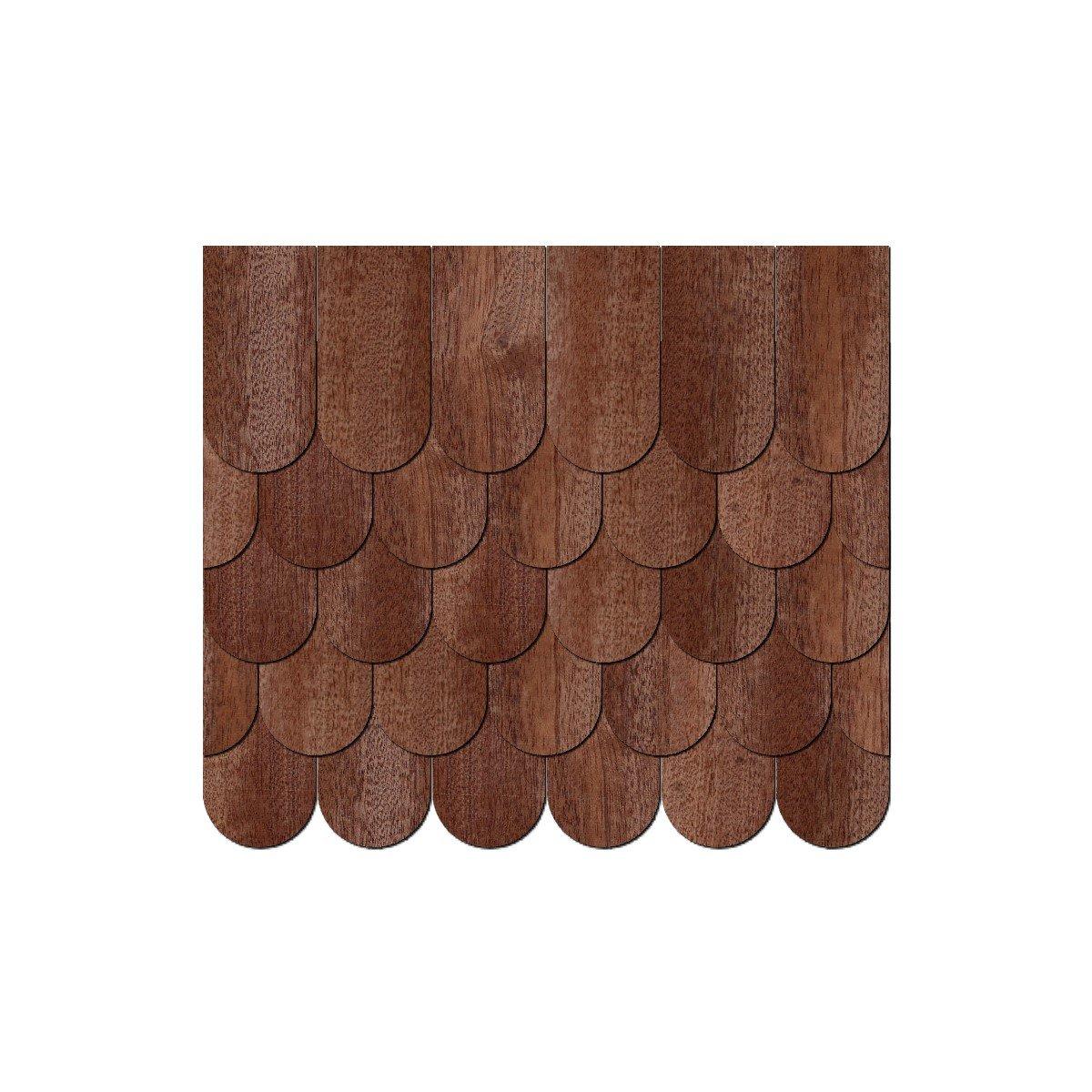 Chapa de madera auténtica Tejas oscuros. – cantidad semicircular – franela cola/redondo Interfaz – Tamaños y cantidad – de selección de, 500 unidades, 50 x 25 mm fb7ca7