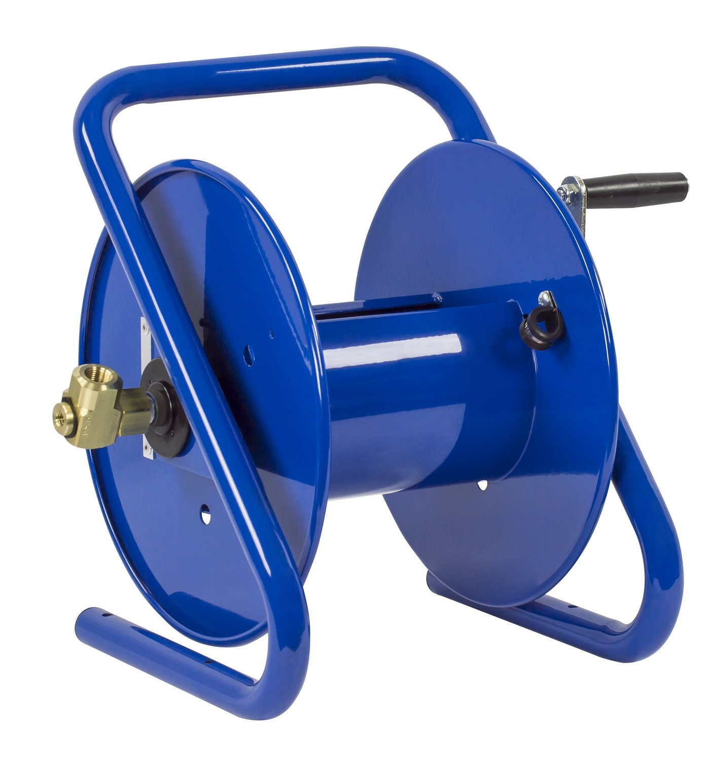 Holds 3//8 x 150 Length Hose Coxreels 112-3-150-CM Caddy-Mount Portable Hose Reel 4,000 PSI Hose Not Included,Blue