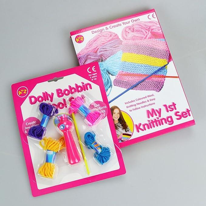 My 1st Knitting Set Dolly Bobbin Wool Set Bundle Amazon