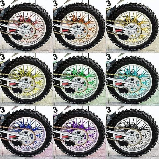 Wytino Copertura Raggi 36 Pezzi Protezione Raggi Raggi Cerchi da Motocross Coperture Pelli Kit Protezioni Moto off Road