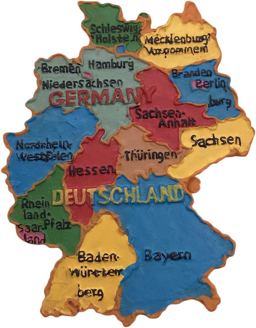 Deutschland 3d Karte Kühlschrankmagnet Touristische Souvenirs Harz Magnetische Aufkleber Kühlschrankmagnet Home Kitchen Dekoration Aus China Amazon De Küche Haushalt