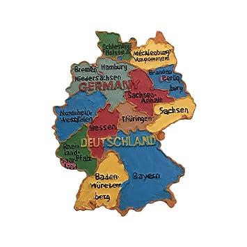 Wedare Deutschland 3d Karte Kuhlschrankmagnet Touristische