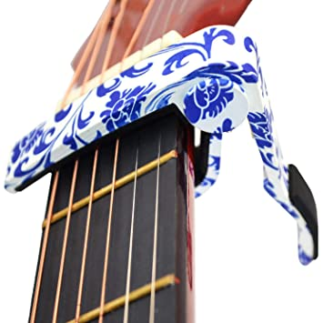 HY Guitar Capo Quick Change para Guitarras acústicas de Acero y Acero eléctricas, Ukelele: Amazon.es: Hogar