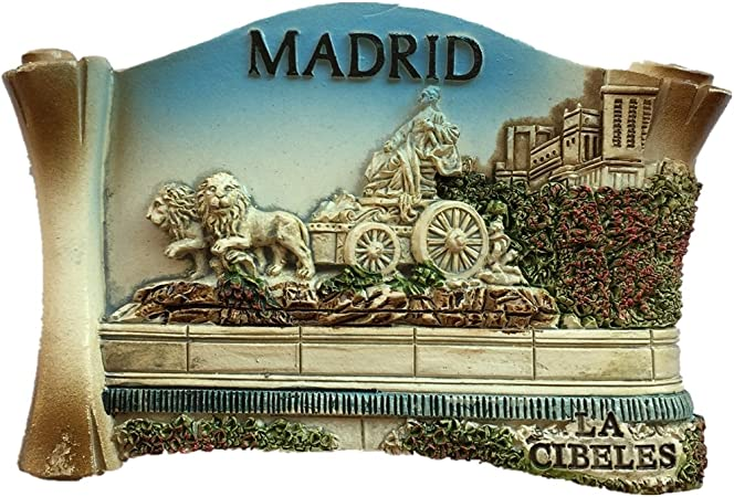 Madrid España Europa Ciudad Mundial Resina 3D Fuerte Imán para nevera Regalo turístico Imán chino Hecho a mano Artesanía Creativa Casa y Cocina Decoración magnética (Style1): Amazon.es: Hogar