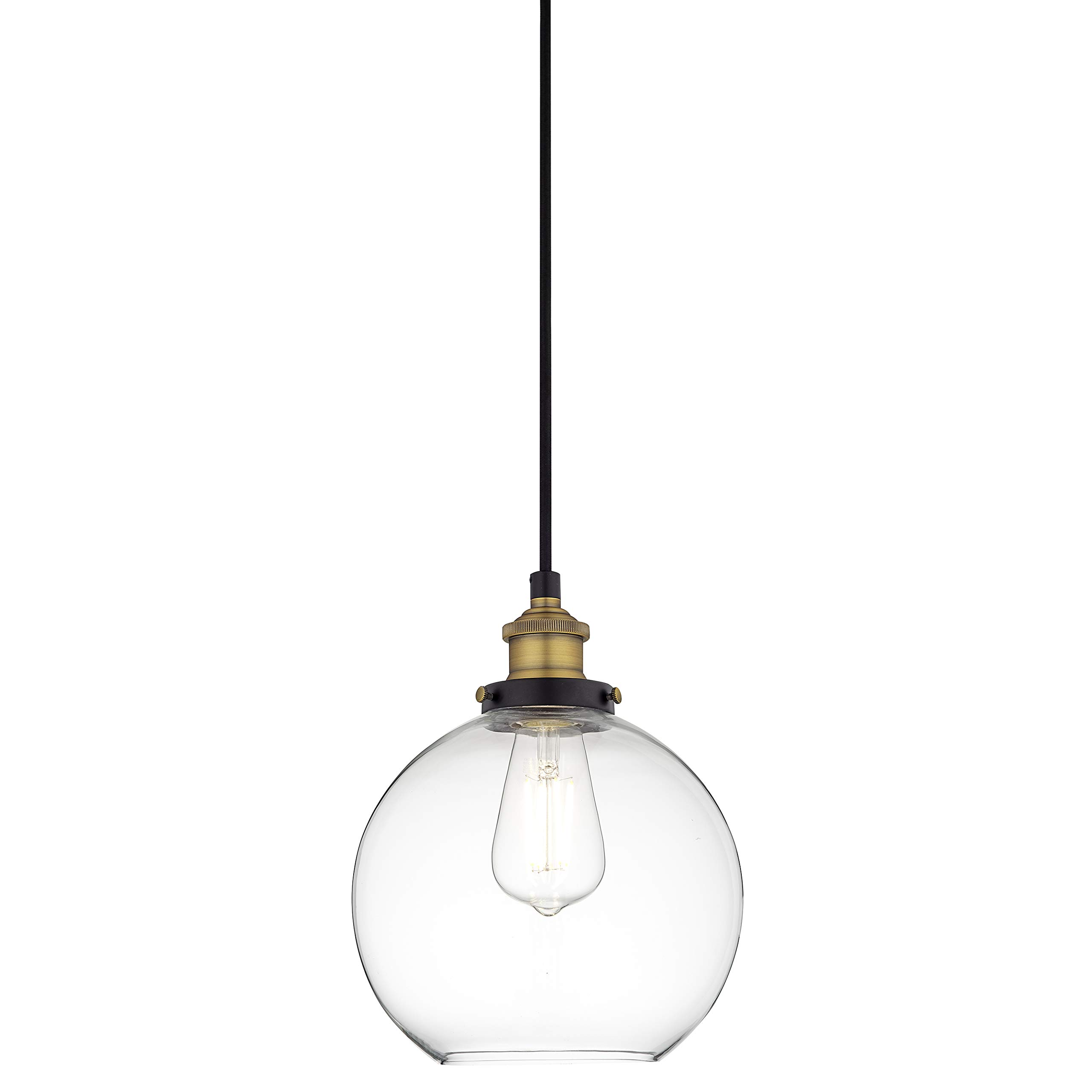 Primo Industrial Kitchen Pendant Light - Antique Brass Hanging Fixture - Linea di Liara LL-P429-AB by Linea di Liara (Image #3)