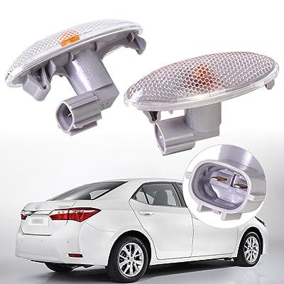 beler Amber Fender Side Marker, Side Turn Signal Light, Fit for Toyota Corolla Auris Yaris RAV4: Automotive