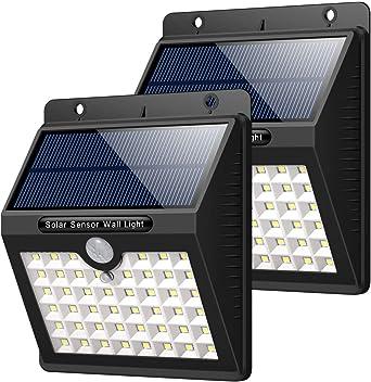 HETP Lampe Solaire Extérieur Jardin, 46 LED éclairage Solaire Extérieur  avec Détecteur de Mouvement étanche sans Fil LED Sécurité Lumière Solaire  ...