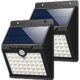 Lampada Solare Esterno, HETP [2-Pezzi] 46 LED Luce Solare Sensore di Movimento Luci Solari Parete Impermeabile illuminazione Solare Wireless 3 Modalità Lampade Solari di Sicurezza per Giardino, Patio