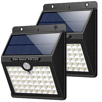 Hetp Luz Solar Jardin 2 Piezas 46 Led Foco Solar Exterior Con
