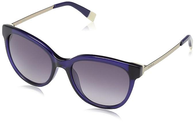 ef0f768b9380 Image Unavailable. Image not available for. Colour: Furla Eyewear Women's  SFU045 Sunglasses, Shiny Blue ...