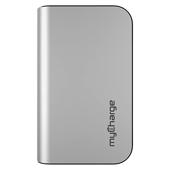 myCharge(R) HubPlus Portable Charger for Lightning and Micro-USB Devices, Silver
