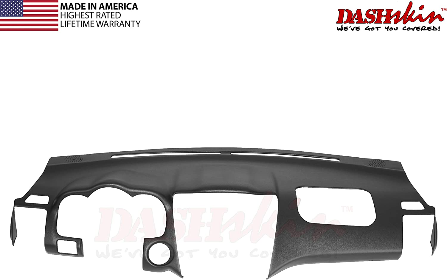 w//o Center Speaker Holes USA Made DashSkin Molded Dash Cover Compatible with 04-09 Lexus RX330 RX350 RX400h in Black