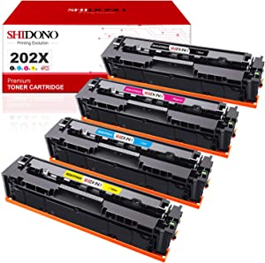 Shidono Compatible Toner Cartridge Replacement for HP 202X 202A CF500X Fits with Laserjet Pro MFP M281fdw/M254dw/M254dn/M254nw/M281cdw/M281fdn/M280nw/M281dw Printer [Black/Cyan/Yellow/Magenta]
